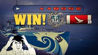 EPIC 1 vs 6 || Kamikaze R - 9 Kills - World of Warships