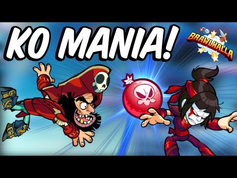 KO Mania!! • 5 Stocks 300% Damage!! • Brawlhalla 1v1 Gameplay
