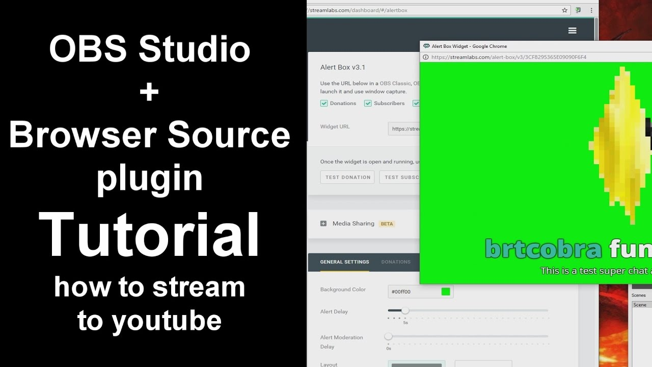 OBS Studio - How to Stream To Youtube (Nvidia CardsOnly) + Browser Plugins