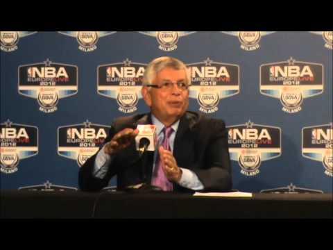 David Stern sajtótájékoztató (NBA Europe Live 2012, Milánó)