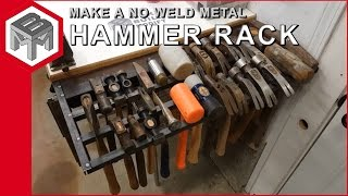 How to make a metal hammer rack without a welder