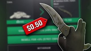 "I got a ""$0.50"" knife... - GAMDOM | CS:GO Gambling"