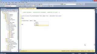 SQL Server | 59 - Procedimientos almacenados   Parámetros de salida