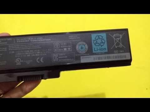 Baterai Laptop Toshiba L745 Original - Detail Look