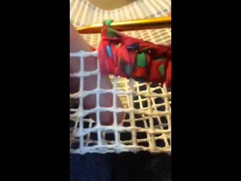 Crochet Edge For Locker Hook Rug Youtube