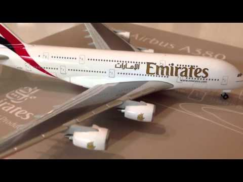 Herpa Emirates Airbus A380 1/500 Model UNBOXING