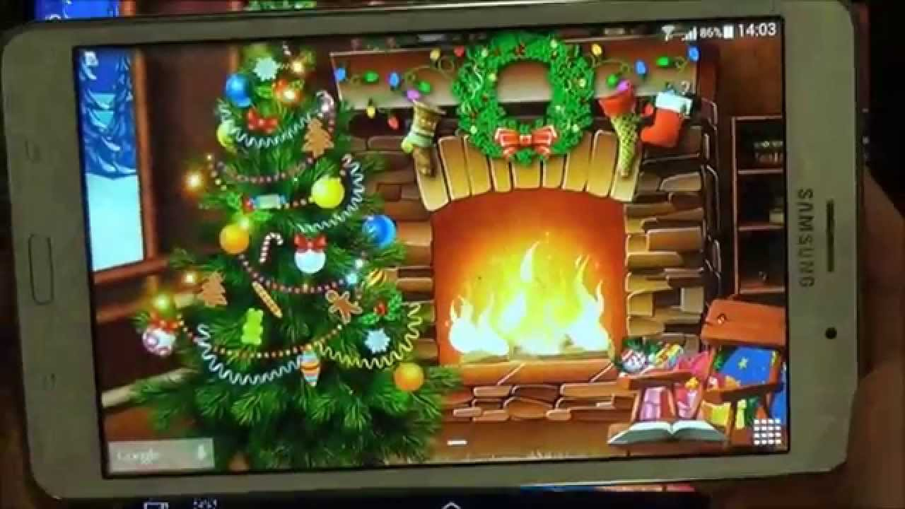 Animated Fireplace Wallpaper Christmas Live Wallpaper For Android Phones And Tablets
