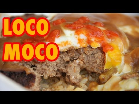 HUGE Loco Moco Plate Lunch from Papa Ole