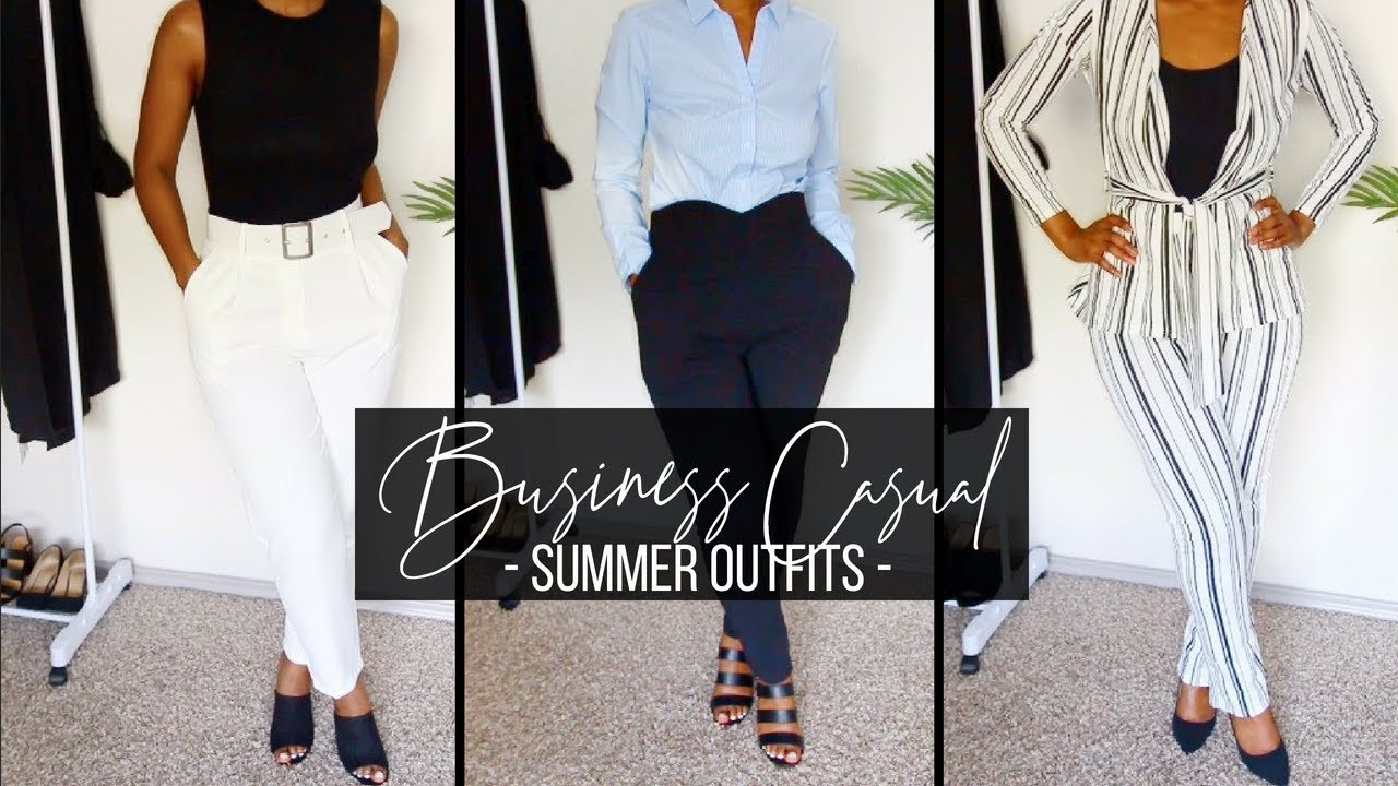 770c7c1614e8 BUSINESS CASUAL LOOKBOOK | SUMMER WORK OUTFITS | SUMMER OFFICE WEAR ...