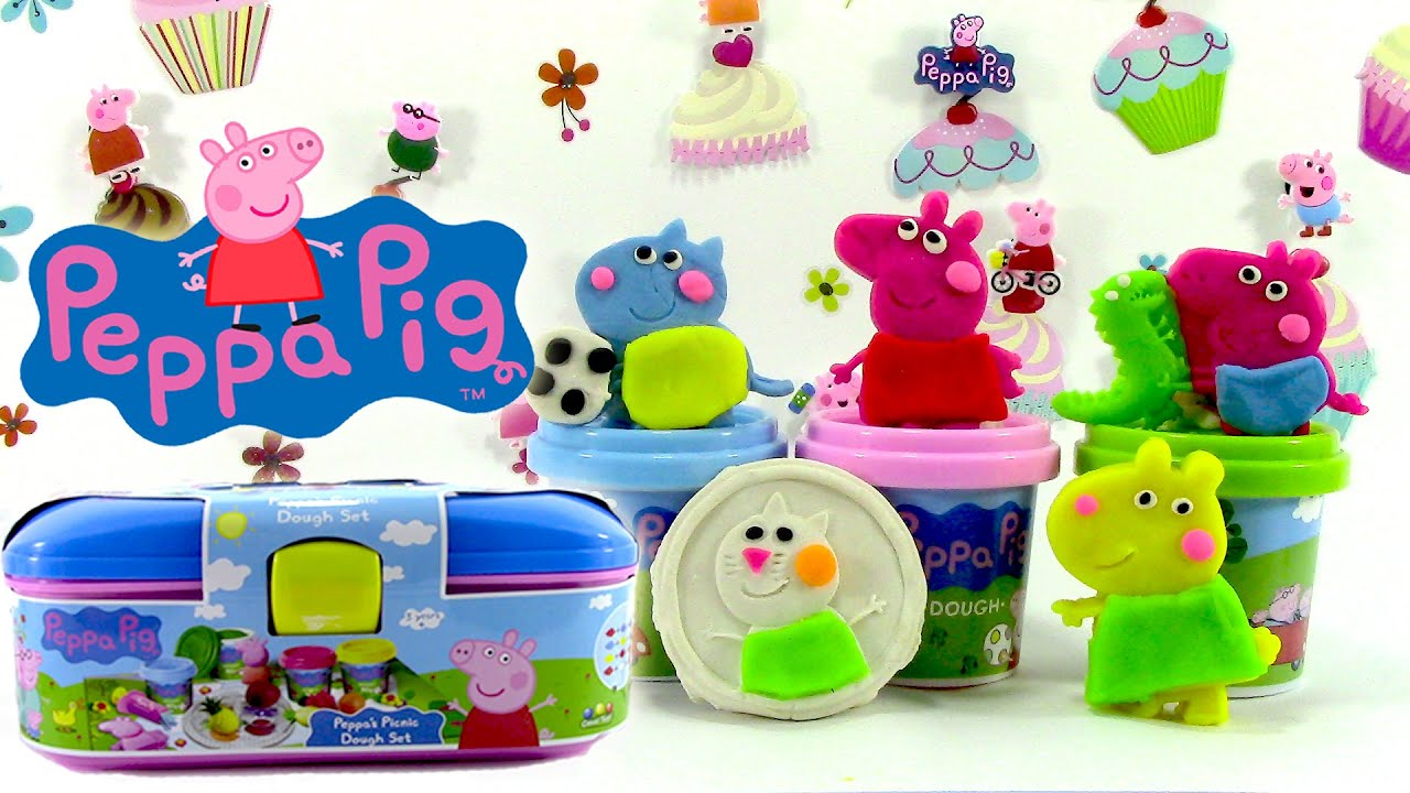 p te modeler peppa pig pique nique de peppa pig picnic. Black Bedroom Furniture Sets. Home Design Ideas