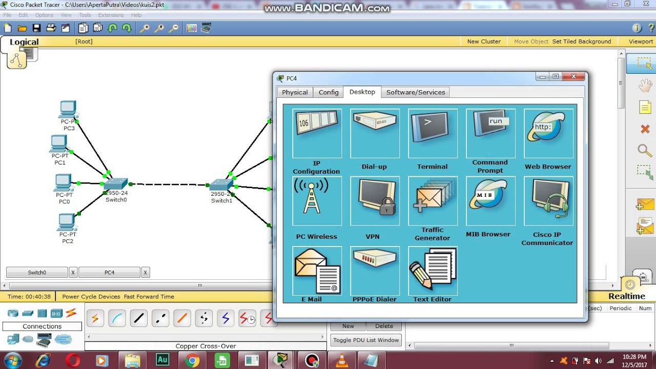 Cara menghubungkan switch dengan switch via wire ( VLAN ) - YouTube