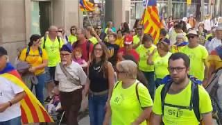 Barcelona se llena de independentistas horas antes de la manifestación de la Diada