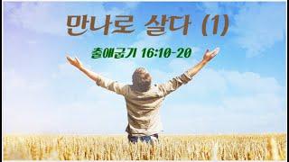 LJKC 주예수교회 6월 6일 주일설교  | 만나로 살다 (1) | 출애굽기 16:10-20 김형주 목사
