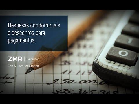 ZMR Advogados - Despesas condominiais e descontos para pagamentos.