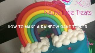 How to make a rainbow cake topper