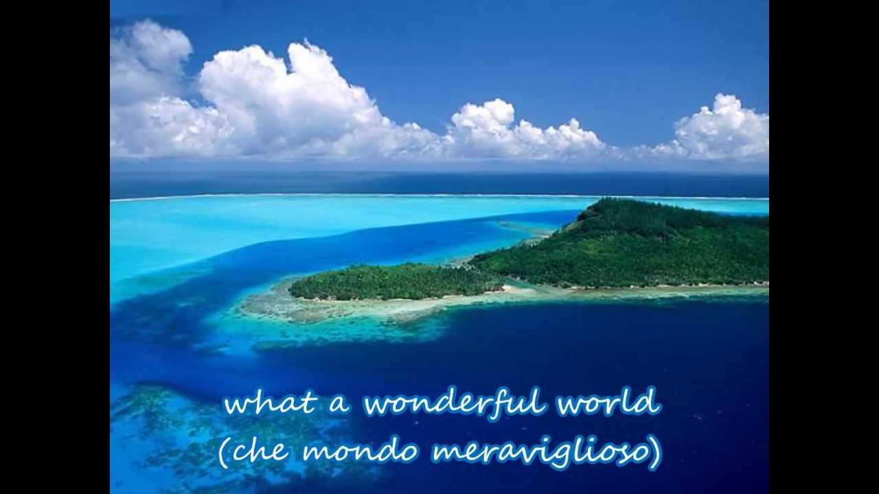 What a wonderful world (con testo e traduzione) - YouTube