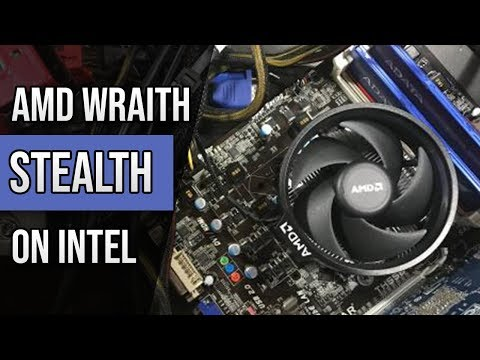 Putting an AMD Wraith Spire Stealth Stock CPU Cooler On An Intel Processor How Well Does It Perform?
