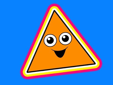 """This Little Triangle"" - Shapes Learning Song, Teach Babies & Toddlers, Kids Nursery Rhyme"