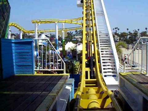 West Roller Coaster at Pacific Park on the Santa Monica Pier - On Ride Video