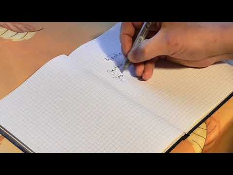 Writing in a Notebook- Verbs