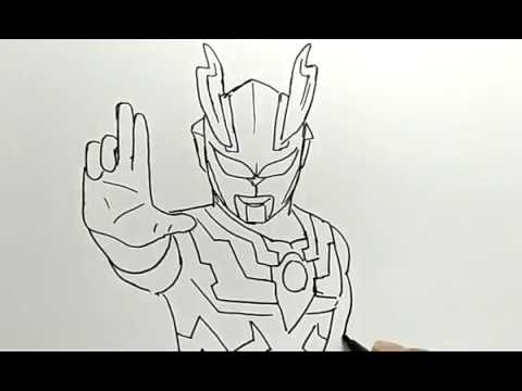 Cara Menggambar Ultraman How To Draw Ultraman Youtube