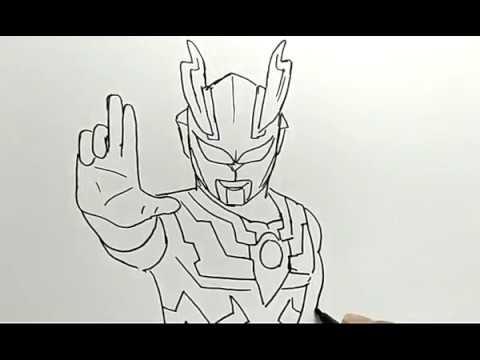 cara menggambar ultraman  how to draw ultraman  YouTube