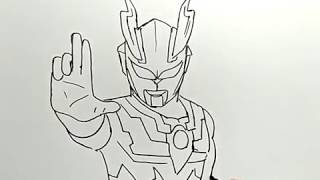 cara menggambar ultraman / how to draw ultraman