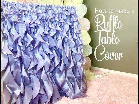 How to Make a Curly Willow Ruffle Table Skirt Chair Decorations DIY Wedding