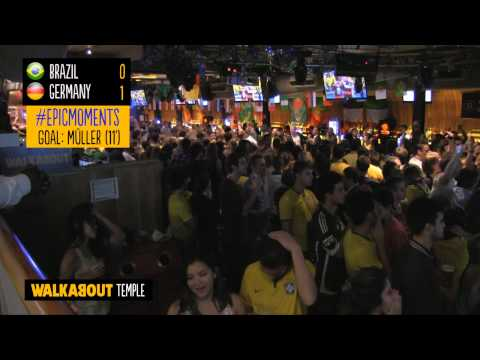 Crowd Reactions from Germany 7-1 Brazil at Walkabout Temple
