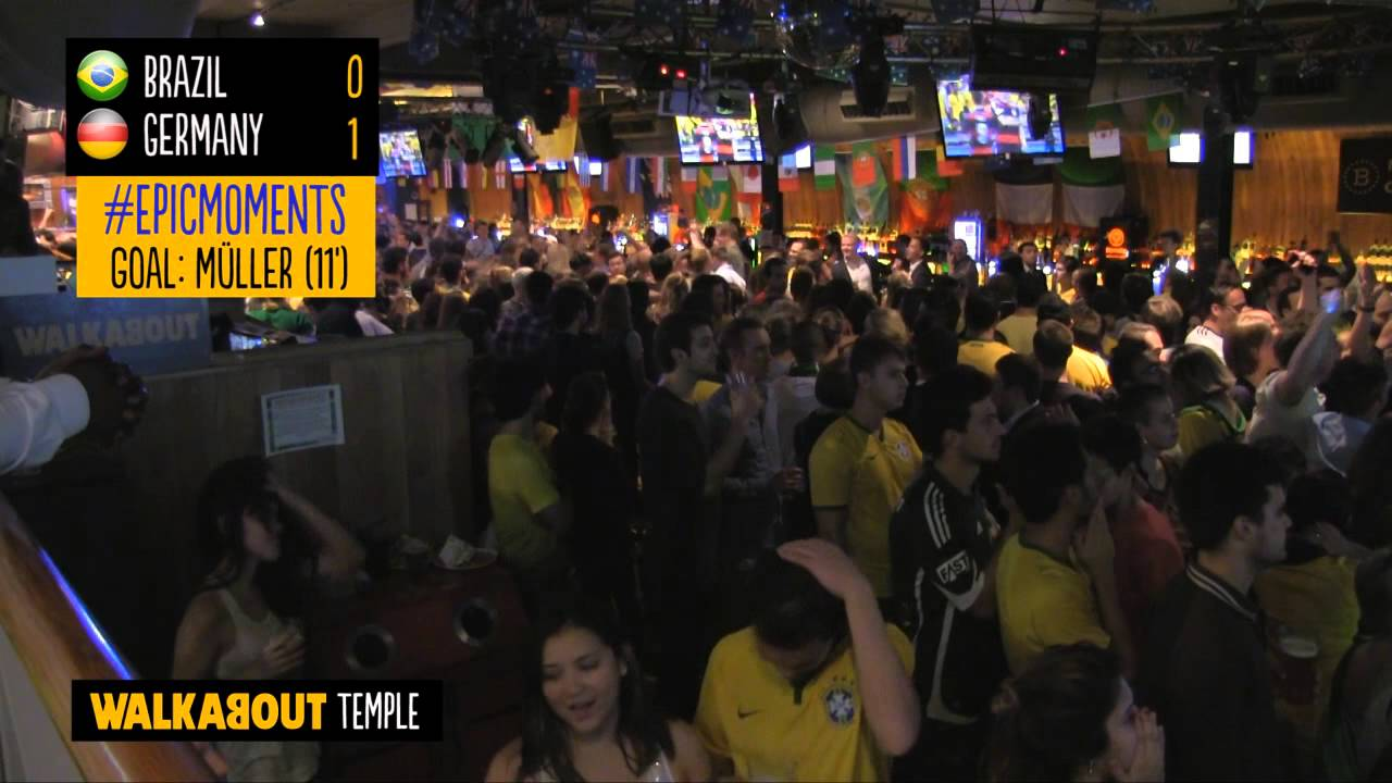 Download Crowd Reactions from Germany 7-1 Brazil at Walkabout Temple