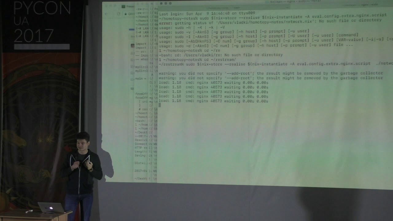 Image from day 2, Vladimir Kyrylov's lightning talk