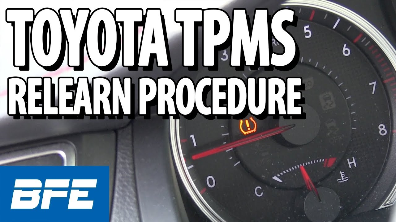 Toyota TPMS relearn procedure   Tech Minute
