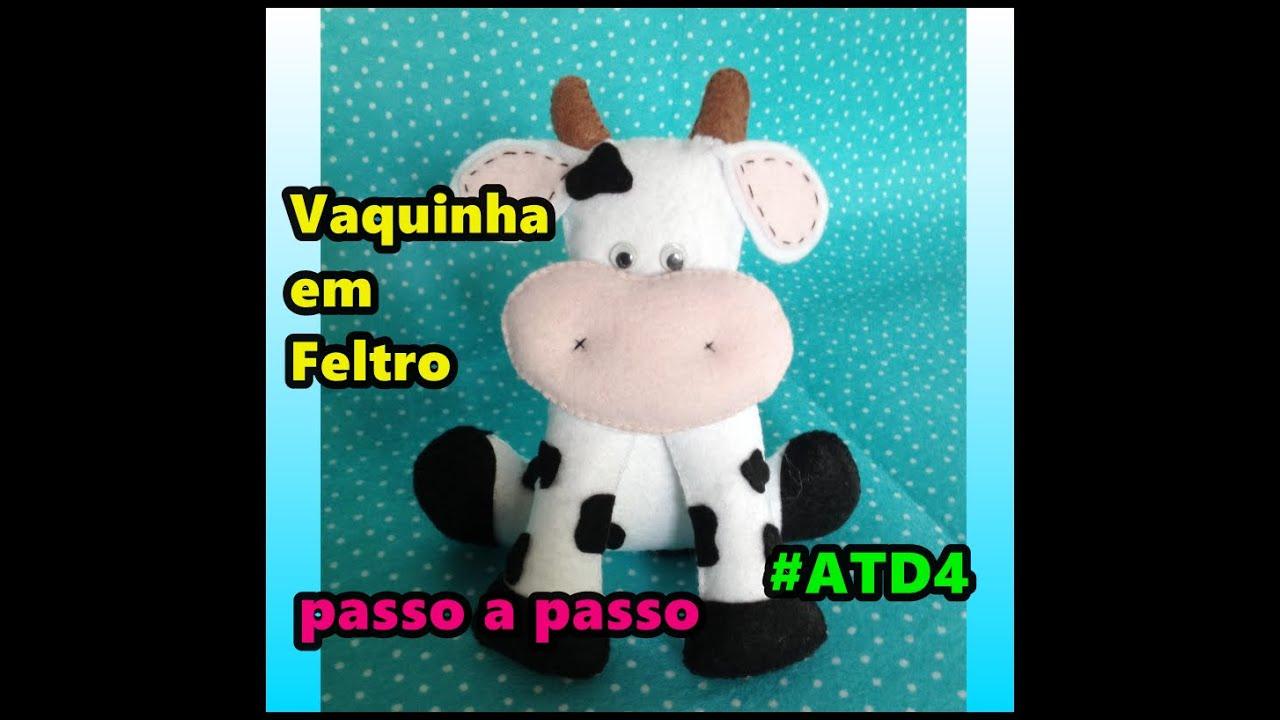 Vaca Em Feltro Passo A Passo Diy Youtube