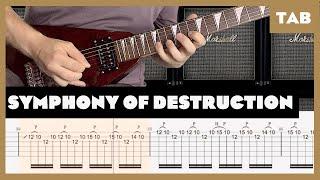 Symphony of Destruction Megadeth Cover   Guitar Tab   Lesson   Tutorial