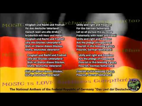 Germany National Anthem with music, vocal and lyrics German w/English Translation