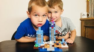 Minecraft Lego Set 21131 Ice World Build And Play Family Fun Time