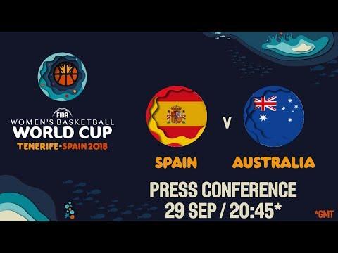 Press Conference - Spain v Australia - Semi-Final