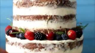 Mashkin Cake. Свадебный голый торт с ягодами