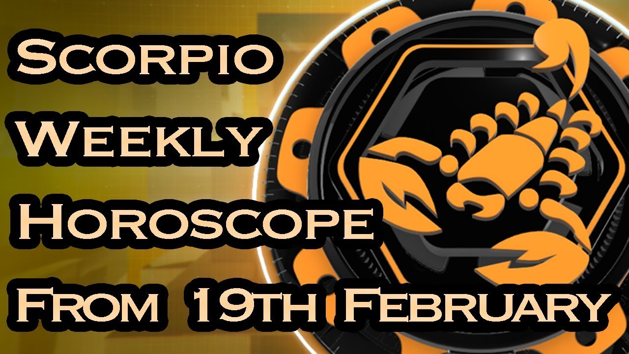 Scorpio Horoscope  Scorpio Weekly Horoscope From 19th. Captain America Signs. Lucozade Logo. Deep Excavation Signs. Hot Rod Stickers. Light Stickers. Facial Weakness Signs. Font Signs. Ocean Scene Murals