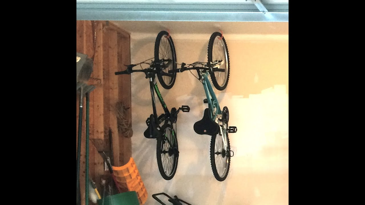 HOW TO HANG BIKES IN GARAGE - YouTube