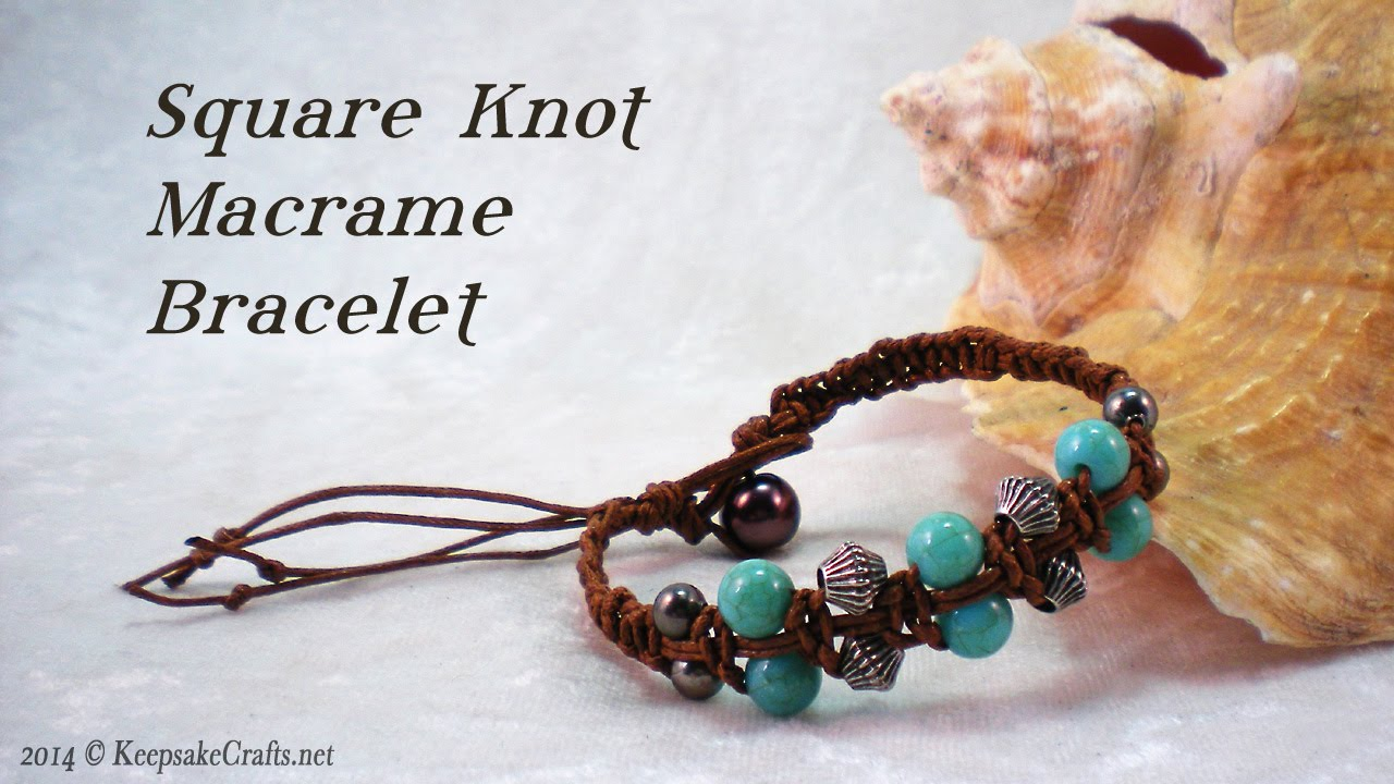 How to make a knot bracelet with beads — pic 2