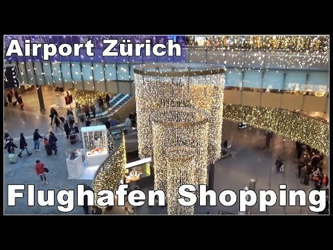 Zürich Airport LSZH, ZRH -Shopping Mall (Christmas Time)