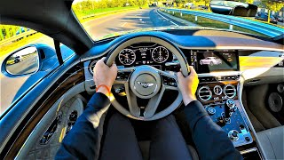 Bentley Continental GT 635HP, Limited First Edition! - POV Test Drive. Bentley GoPRO driving.