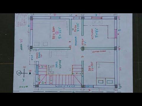 22  27 West North face house plan map naksha details