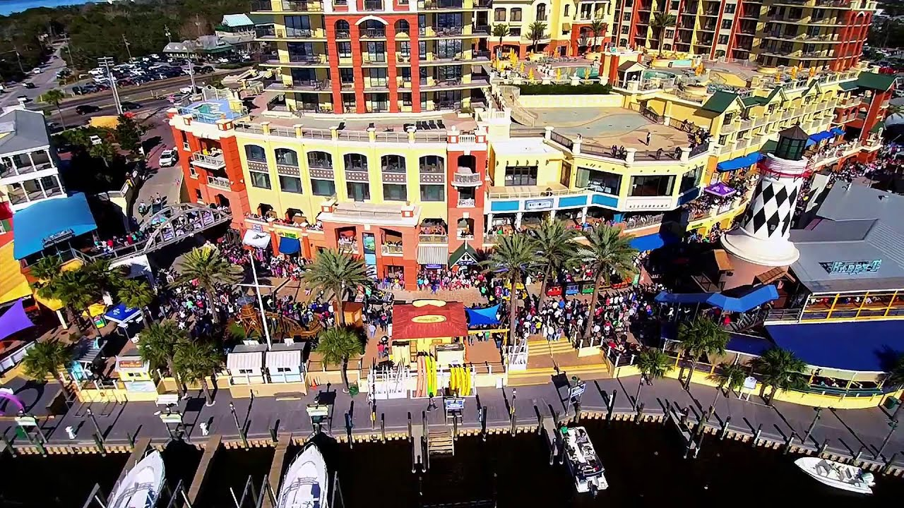 8th Annual Mardi Gras Parade 2016 Harborwalk Destin Fl