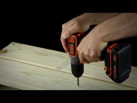 BLACK + DECKER 20V MAX*- Lithium Drill/Driver with AutoSense™ Technology