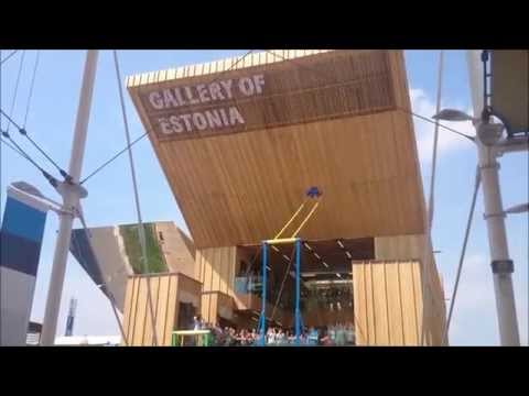 Kiiking at the Gallery of Estonia, EXPO 2015