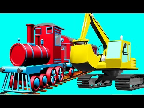 Excavator, Truck, Dump Truck, Train and Crane in Truck City