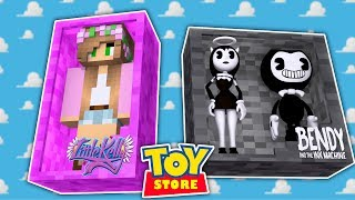 Minecraft TOYS ALICE ANGEL AND BENDY STEAL THE TOYS
