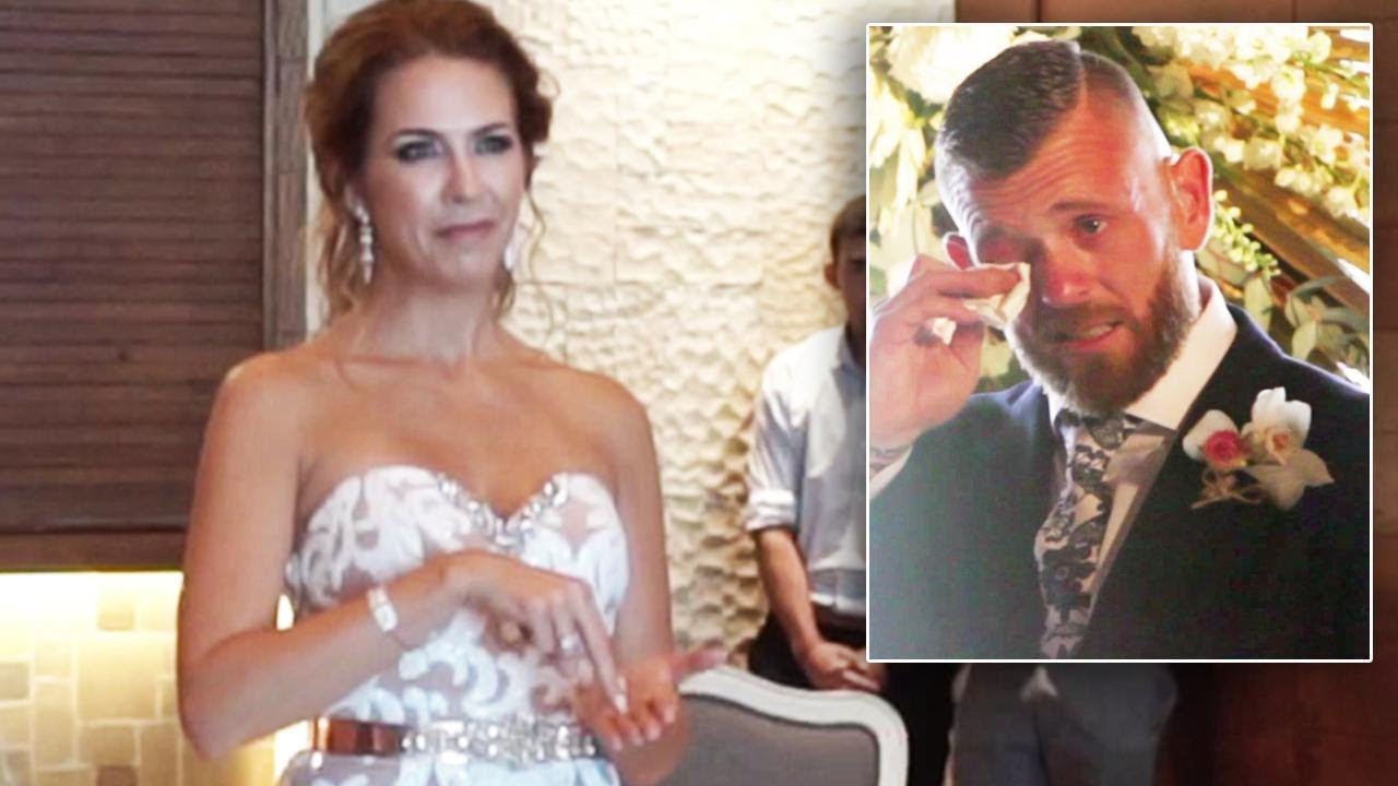 5e9edf62a13 Deaf Man Bursts Into Tears When Bride-To-Be Signs Wedding Song. Inside  Edition